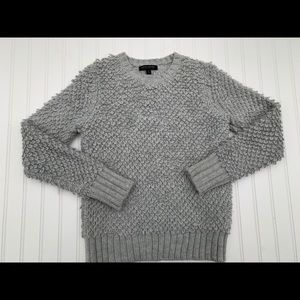 Banana Republic Small Gray Crew Carpet Sweater